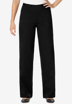 Wide Leg Fineline Jean, BLACK