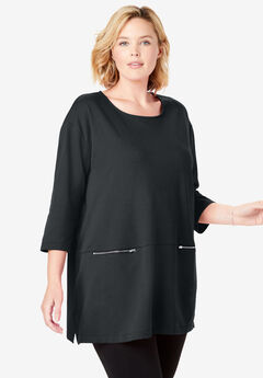 Zipper Pocket Tunic,