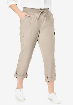 Convertible Length Cargo Pant, NATURAL KHAKI