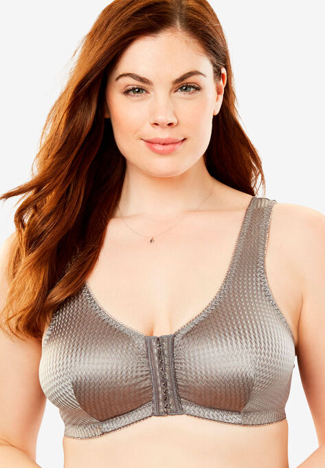 ea37bcdcc9 Front-Hook Wireless Leisure Bra by Leading Lady®