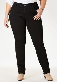 Flex Motion Straight Leg Jean by Lee®, BLACK