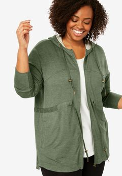 French Terry Swing Jacket,