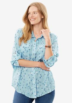 Long sleeve utility shirt, BLUE DIAMOND, hi-res