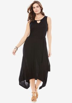 Keyhole Dress by Chelsea Studio®, BLACK, hi-res