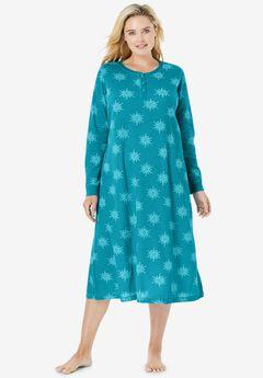 Thermal Henley Sleepshirt ,