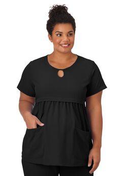 Jockey Scrubs Women's Empire Waist Maternity Top, BLACK