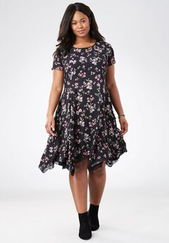 The Flowy Dress, BLACK FLORAL