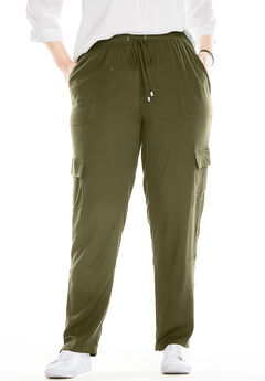Cargo Pocket Utility Pant, DARK BASIL, hi-res