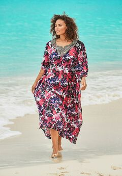 Long Embellished Cover Up,