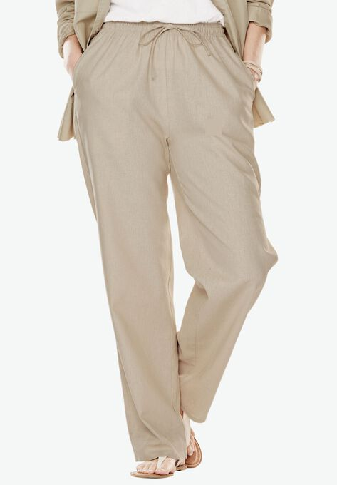 2a1d1768fc9 Linen-Blend Drawstring Pants