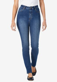 Perfect Straight Leg Jean, MEDIUM STONEWASH SANDED