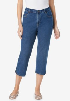Capri Stretch Jean, MEDIUM STONEWASH