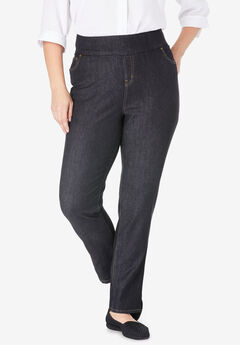 Smooth Waist Skinny Jean, BLACK DENIM