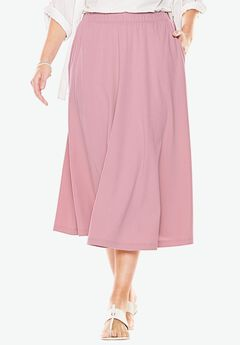7-Day Knit A-Line Skirt, ROSE MIST, hi-res