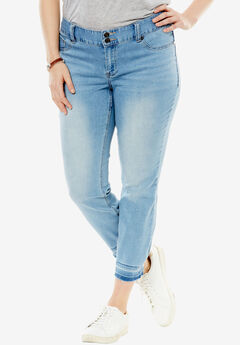 Dropped Hem Curvy Jean, LIGHT, hi-res