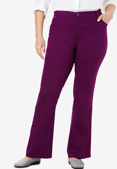 Bootcut Stretch Jean, DARK BERRY