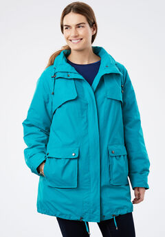 Quick drying Taslon® parka fleece-lined jacket, WATERFALL