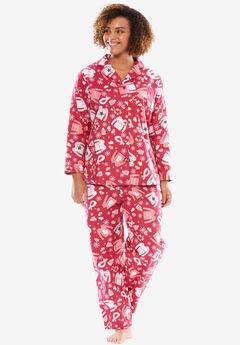 Printed Flannel PJ Set by Dreams & Co.®,