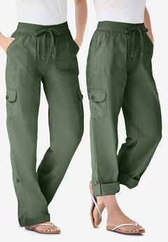 Convertible Length Cargo Pant, OLIVE GREEN