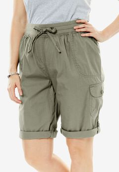 Convertible Utility Shorts, OLIVE GREY, hi-res