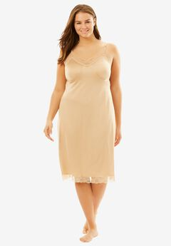 Double Skirted Full Slip by Comfort Choice®, NUDE, hi-res