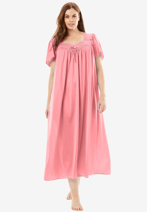 Full-Sweep Nightgown by Only Necessities® | Plus Size Sleep | Woman ...