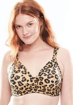 Seamless T-Shirt Bra By Leading Lady®, ANIMAL, hi-res