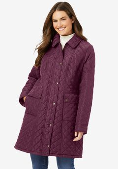 Fleece-Lined Quilted Coat,