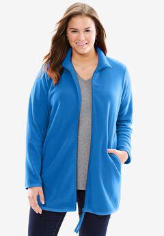 Zip-Front Microfleece Jacket, BRIGHT COBALT