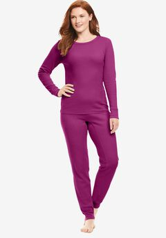 Thermal Long Sleeve Tee , RICH MAGENTA