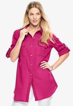 Cotton gauze shirt,