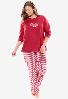 Holiday Print PJ Set by Dreams & Co.®, , hi-res