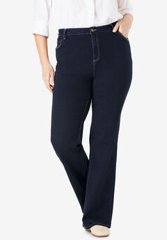 Bootcut Super-Stretch Jean, INDIGO, hi-res