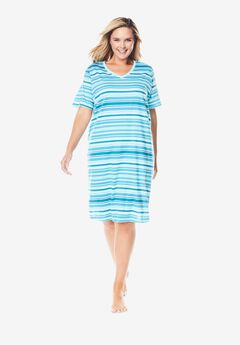 Print Sleepshirt by Dreams & Co.®, CARIBBEAN BLUE STRIPE