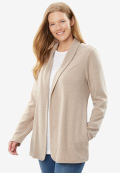 7-Day Knit Jacket, HEATHER SAND, hi-res