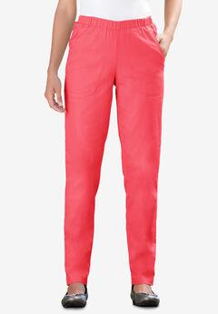 Straight Leg Fineline Jean, ROSE PINK