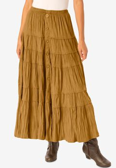 Skirt in soft-as-suede moleskin ,