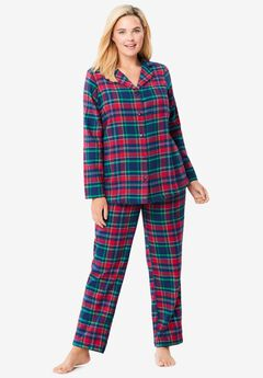 Classic Flannel Pajama Set by Dreams & Co.®,
