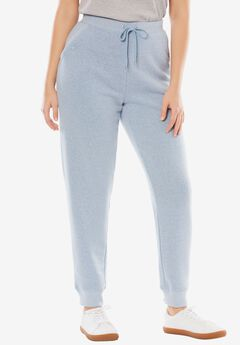 Fleece Jogger Sweatpant, HEATHER BLUE CLOUD, hi-res