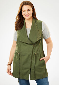 Cascade Utility Vest, FOREST GREEN, hi-res