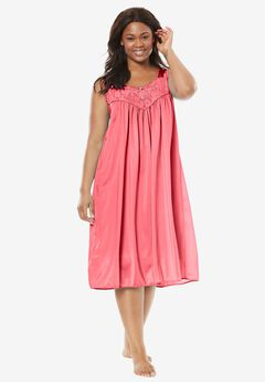 Tricot waltz-length nightgown by Only Necessities®, CORAL ROSE, hi-res
