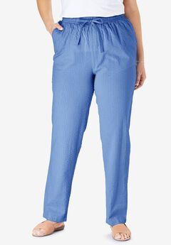 Seersucker Pant, FRENCH BLUE