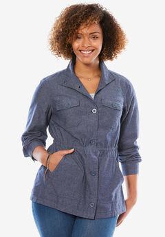 Sport Twill utility jacket, CHAMBRAY, hi-res