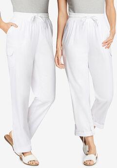 Convertible Length Cargo Pant, WHITE
