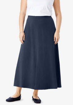 EveryWear Essentials™ A-Line Maxi Skirt, NAVY