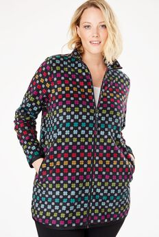 Cozy zip-front jacket in anti-pilling fleece,
