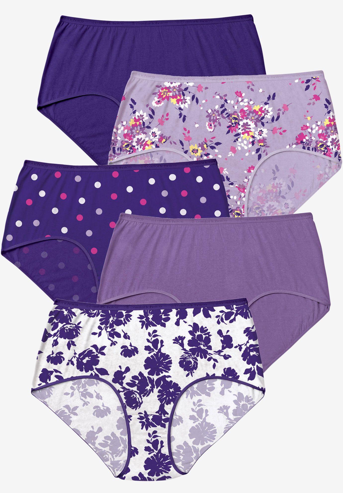 Women/'s Plus Size 2x,3x,4x,5x,6x Nylon 6,12 Pack Briefs,Panties White Colors
