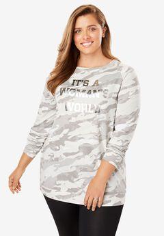 Printed Graphic Sweatshirt by FullBeauty SPORT®,