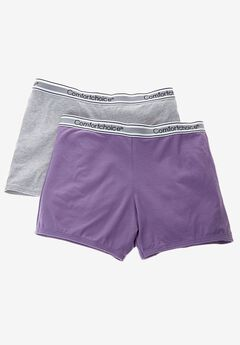 2-Pack Stretch Knit Boyshorts  by Comfort Choice®, VIOLET PACK, hi-res