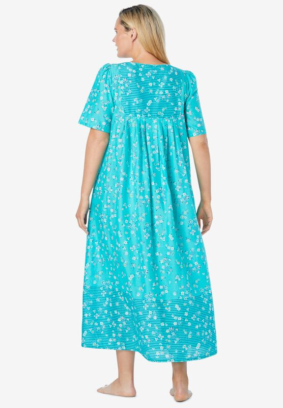 Only Necessities Ladies Women BLUE Mixed Print Long Dress Size 20//22 to 28//30
